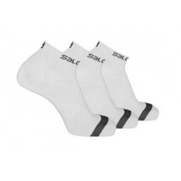 Meia Masculina Salomon - Canvas - Pack/kit Com 3 Pares - Branco